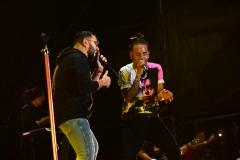 Alex Sensation junto a Ozuna en el Electric Paradise 2018