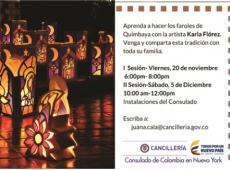El Consulado de Colombia en Nueva York invita al taller para realizar los faroles de Quimbaya.