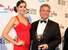 Miss Universo Paulina Vega como madrina de la Gala Cielo en la ciudad de New York